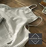 Premium Gift Chef Works Handmade Apron Japanese style Cross back Shape Cotton APRON-Grey Stripe color