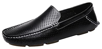1717 New Mens Stylish Casual Loafers Holes Slip-on Moccasins Driving Shoes