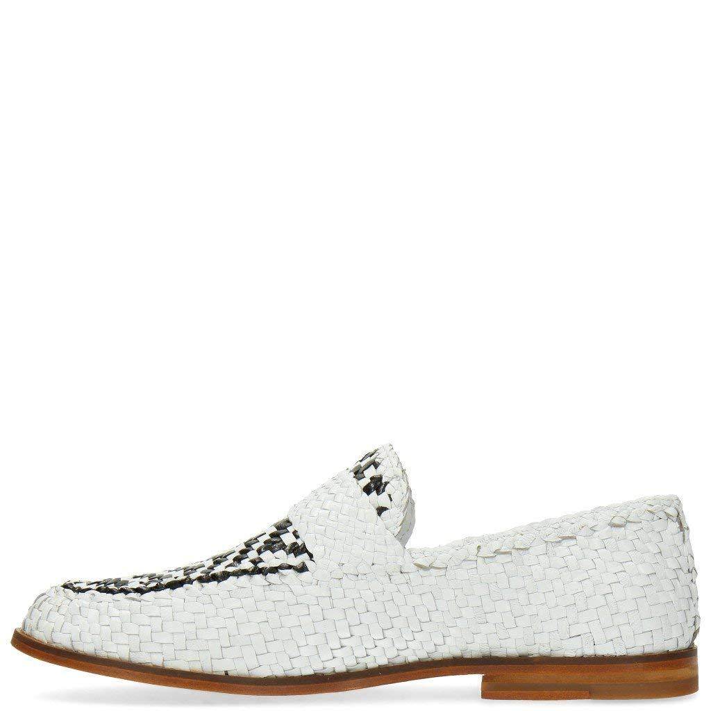 MELVIN & HAMILTON MH HAND MADE Schuhe OF CLASS Pit  10 Woven Weiß schwarz  Pit 41 012bae