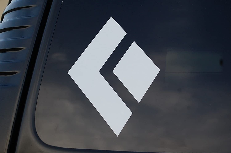 V349 4 X 3, White Five STAR SUPPLY Black Diamond Rock Climbing Sticker Vinyl Decal Car Window Laptop Cell Phone