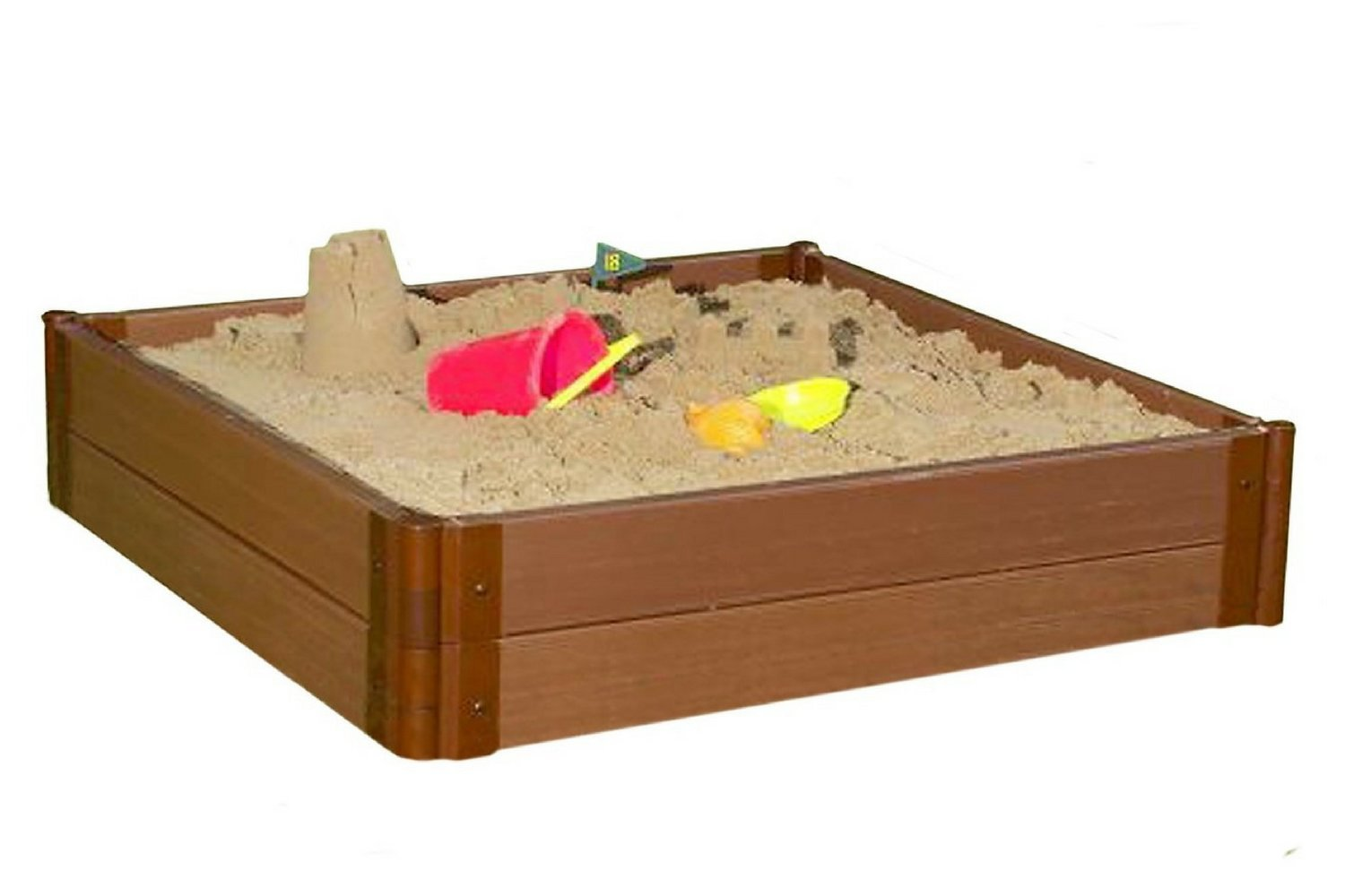 Frame It All Two Series 4' x 11'' Composite Square Sandbox Kit