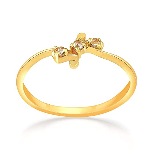 Malabar Gold and Diamonds 22KT Yellow Gold Ring for Women Women's Rings