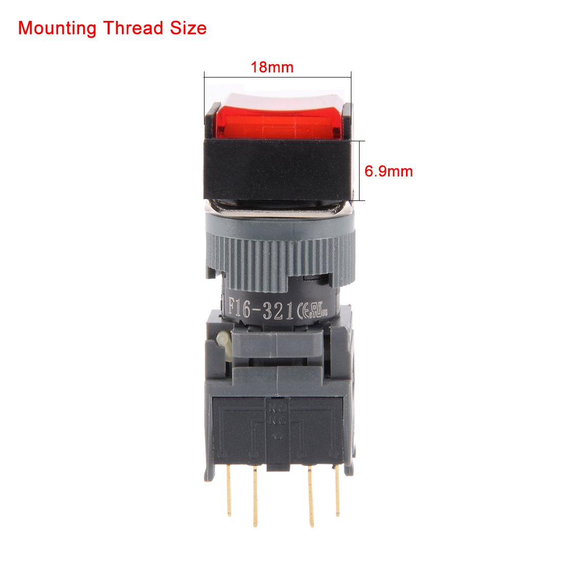 Uxcell A14101000ux0766 Ds228 Spst Latching Pushbutton Details About Push Button Switch 3a 250v Off On 1 Circuit 10 Piece Ac 125v 3 Amp 15 12 Mm Industrial Scientific