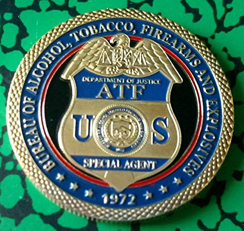 US ATF Bureau of Alcohol Tobacco Firearms and Explosives Colorized Challenge Art Coin