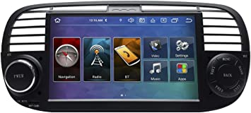 Taffio 7 Inch Touchscreen Android Car Radio Usb Navigation Compatible With Fiat 500 Black Navigation Car Hifi