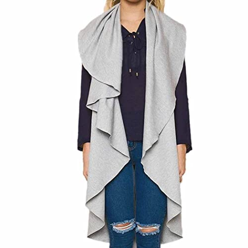 Koly Mujeres Cárdigan, Abrigo Sin mangas Imprimir Suelto Chal Kimono Desgastar Parte superior Cubrir...