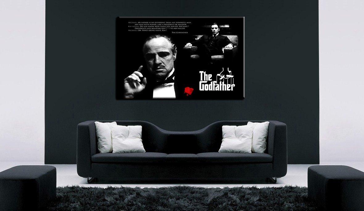 Amazon.de: The Godfather - Al Pacino Leinwand Bild 100x70cm k ...