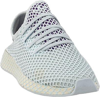Adidas Originals Deerupt Runner Zapatilla - Mujer Casual 9 Blanco/Claro Lila