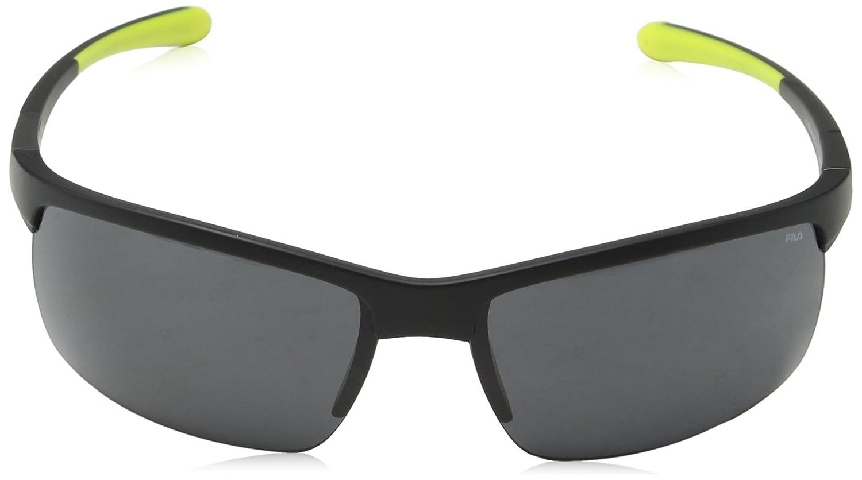 Fila Hombre N/A Gafas de sol, Negro (Semi-Matt Black), 69 ...