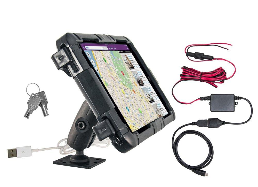 タブレットロックボックスバンドルfor e-log for Samsung Galaxy Tab E 8.0 with 4-holeアンペアドリルベース   B01MTFGOFI