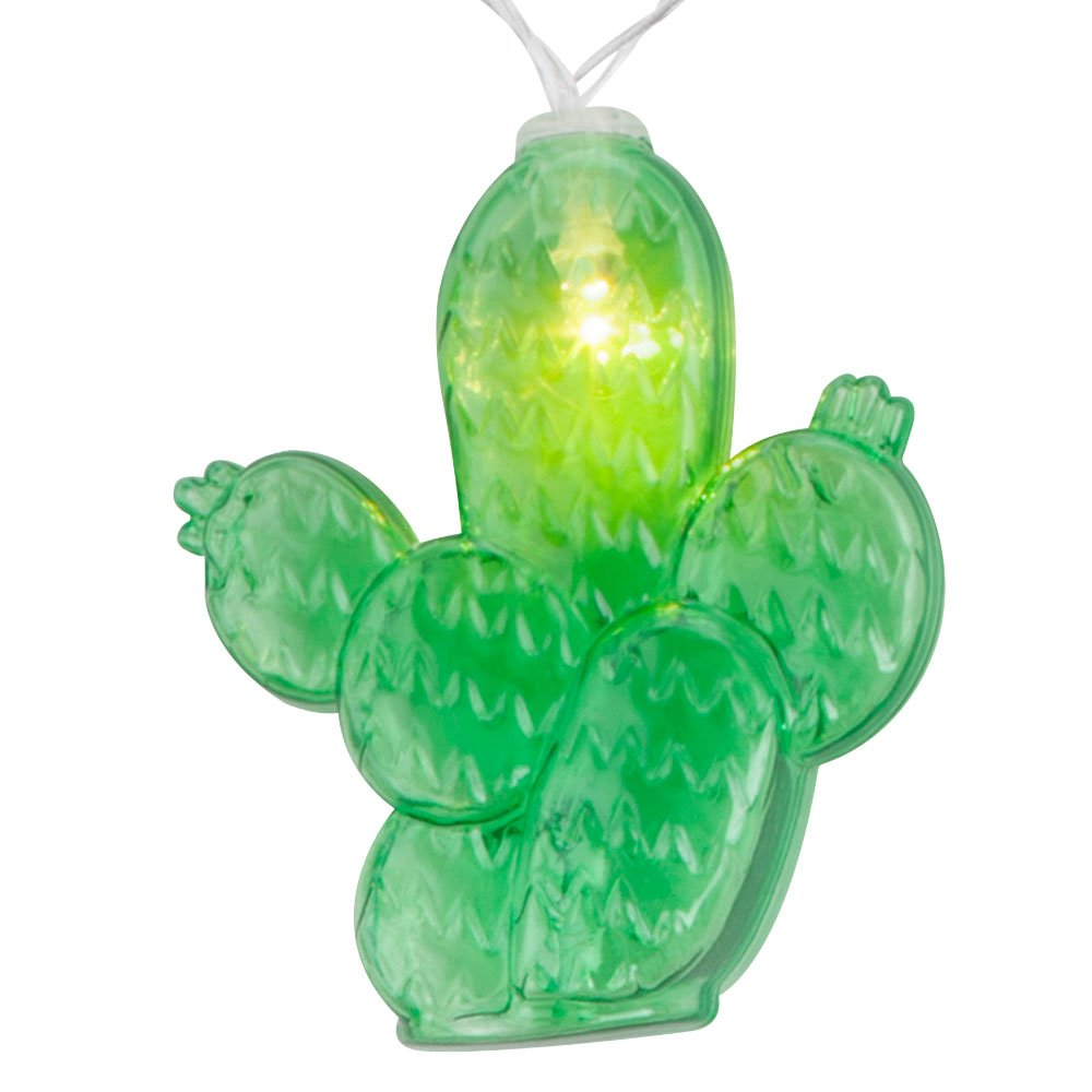 LED Kaktus Lichter Kette Party Deko Beleuchtung grün Batterie Girlande 185 cm