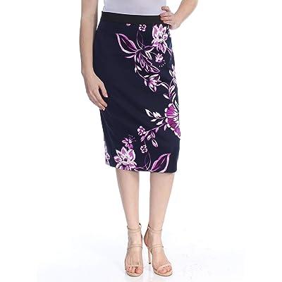 Alfani Printed Scuba Skirt (Fuschia Timeless Floral, XS) at Amazon Women's Clothing store