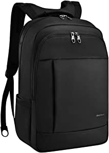 KOPACK Deluxe Black Water Resistant Laptop Backpack 15.6 17 Inch Travel Gear Bag Business Trip Computer Daypack KP512