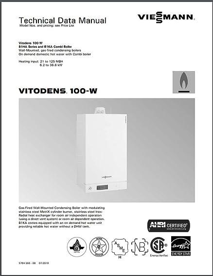 Vitodens 100-W, B1KA-125 Wall-Mounted Gas-Fired Condensing Boiler