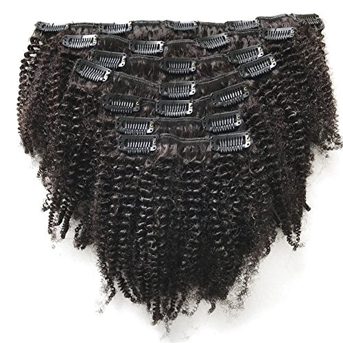 FDshine Kinkys Curly Clip in Hair Extensions Mongolian Afro