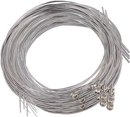 10 cuerdas para guitarra eléctrica de acero plateado, 150 x L/.023 ...