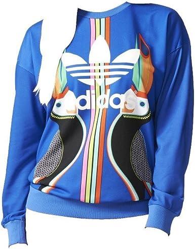felpa adidas multicolor donna