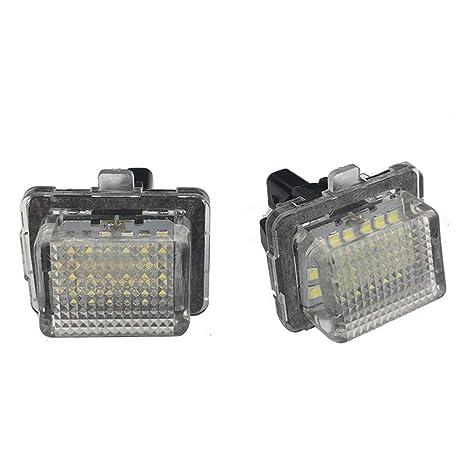 GZCRDZ 2 bombillas LED para matrícula de coche para W204 W212 C207 C216 W221 S204