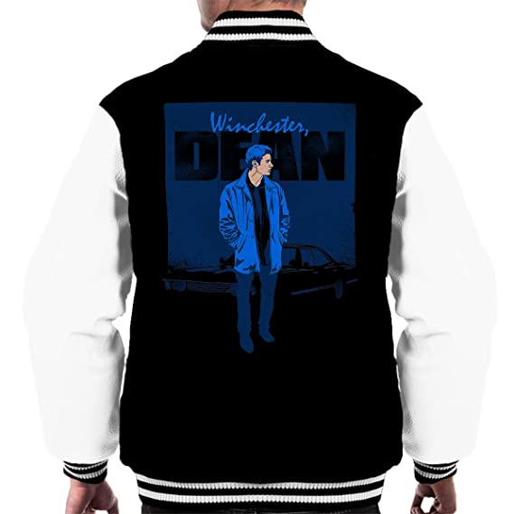 Dean Winchester Poster Supernatural Men S Varsity Jacket Amazon Fr