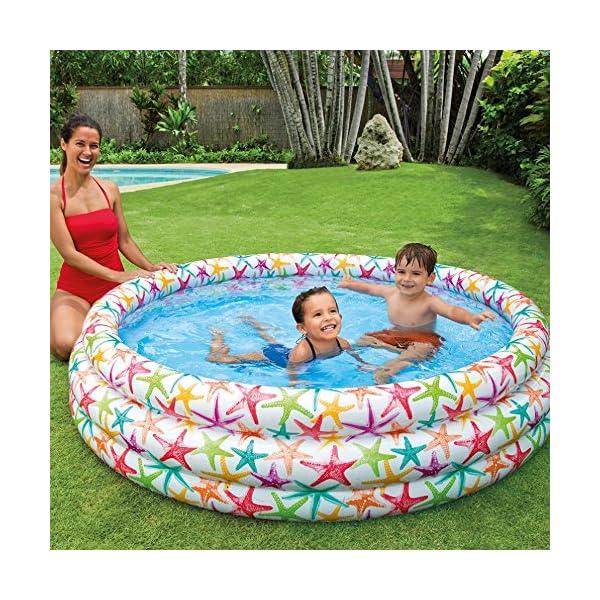 Intex Color Splash 168X40 Piscina 3 Anelli Fantasia Stella Marina, Trasparente/Blu, 168 x 38 cm, 56440 2 spesavip
