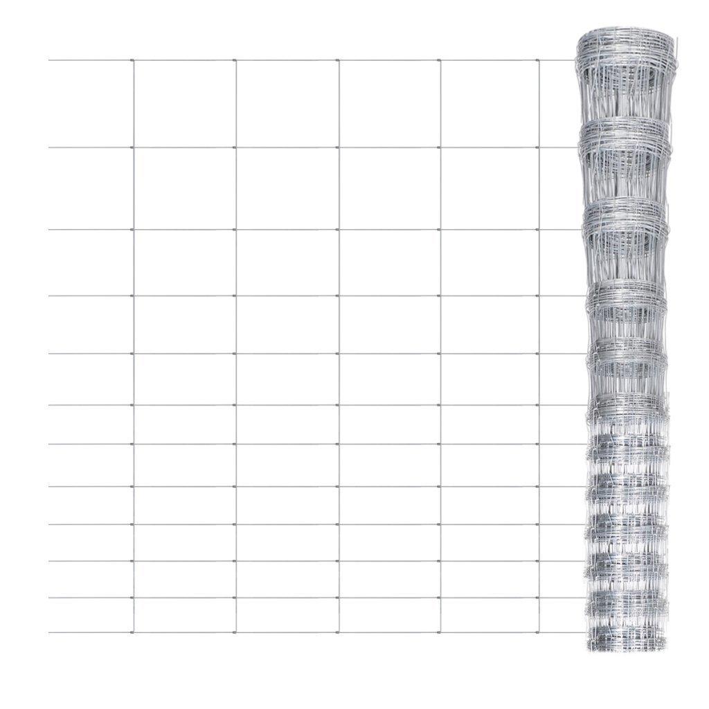 Festnight Clôture de Jardin Grillage galvanisé pour Plantes et Animaux Longeur: 50m Hauteur: 150 cm