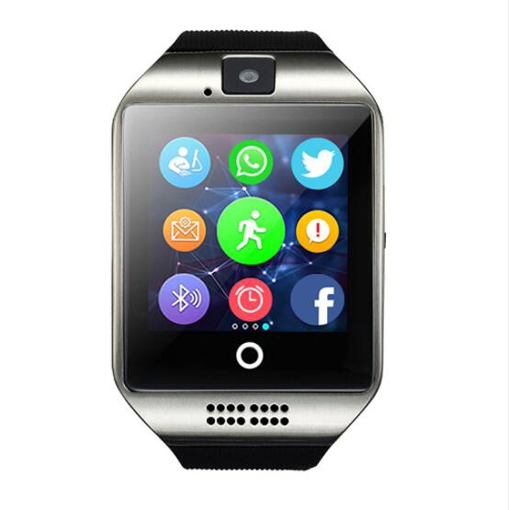 Bluetooth Smart Watch Q18 Passometer Sport Anti-Lost with Touch Screen Camera TF Card Smartwatch Android DZ09 A3