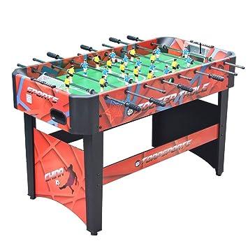 JKLL Mesa de futbolín, Juego de fútbol for niños y Adultos con Mangos ergonómicos, puntaje analógico y niveladores de Pierna: Amazon.es: Deportes y aire libre