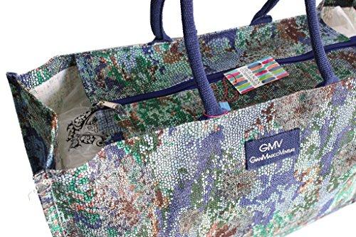 Borsa mare Gian Marco Venturi donna moda mare l.mosaica grande 44330 aqua