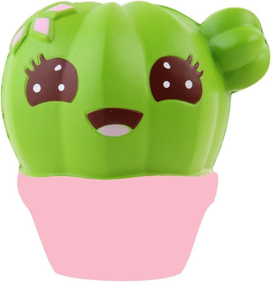 Anboor 3.9 Squishies Cactus Kawaii Slow Rising Scented Squishies Kids Toy for Gift Collection Decorative Props