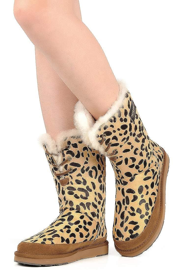AU&MU Women Suede Pattern Boots Pot Winter Snow Boots Pattern B07G72KQDJ Snow Boots b0684f