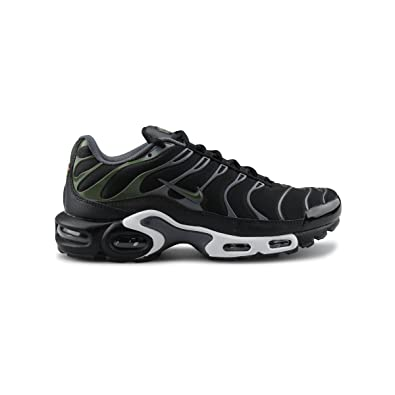 8695e73840242d Nike Men s Air Max Plus Black Legion Green Dark Grey White Nylon Cross