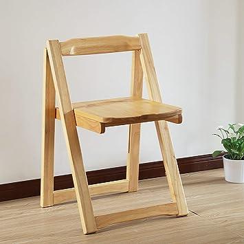Sillas plegables de madera Silla de comedor de madera maciza ...