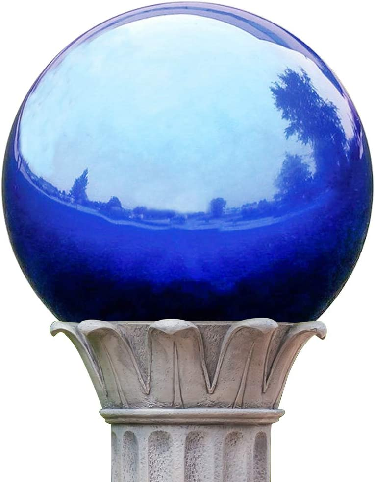 KANFF 7-Inch Blue Gazing Globe Mirror Ball, 7
