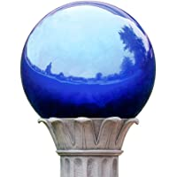 KANFF 5-Inch Blue Gazing Globe Mirror Ball, 5″ Polished Stainless Steel Gazing Ball, Colorful and Shiny Addition to Patio, Garden and Home