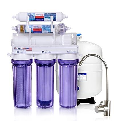 LiquaGen   6 Stage Anti Oxidant Alkaline, ORP Ionizer Reverse Osmosis Under  Sink Home