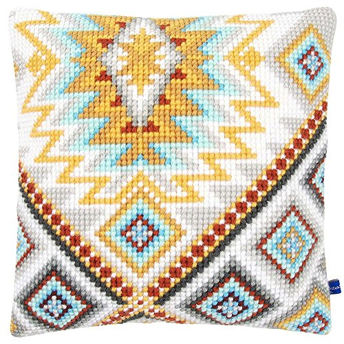 Vervaco Soft Ethnic II Pillow Cover Needlepoint Kit