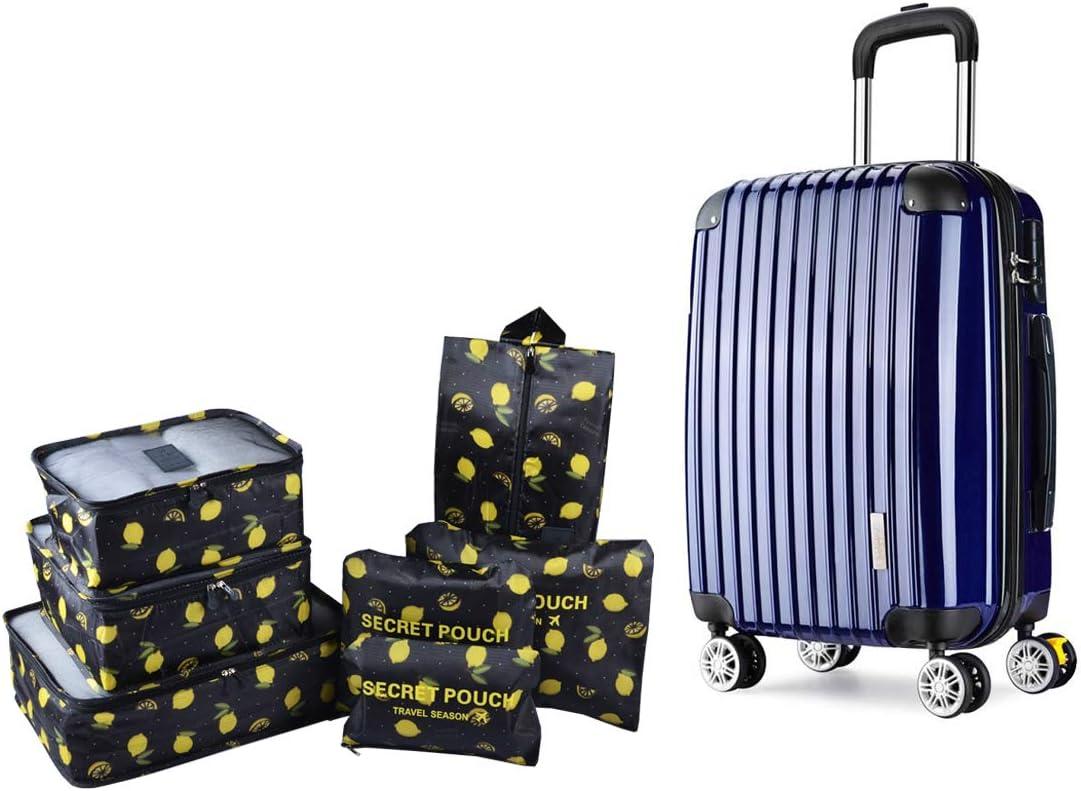 TOYESS wasserdichte Kompression Taschen Kleidertaschen-Set 4-teilig f/ür Reisen Oder auch f/ür Zu Hause Schwarz Reise Packtaschen f/ür Koffer /& Rucksack