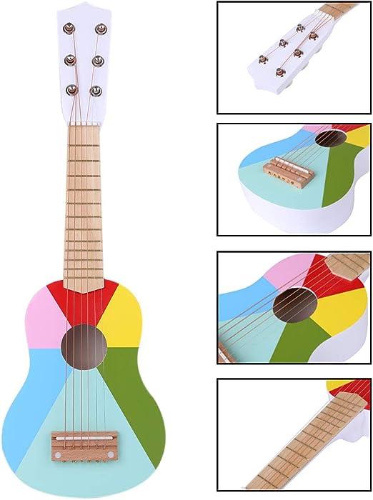 Foxom Guitarra para Niños, 21 Pulgadas 6 Cuerdas Madera Guitarra ...