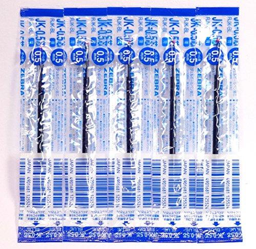 Zebra JK-0.5 Blue Ink Refill (RJK-BL), 0.5mm, for Sarasa Multicolor gel ballpoint pen, × 5 Pack/total 5 pcs (Japan Import) [Komainu-Dou Original Package]