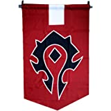 World of Warcraft Horde Alliance Badge Banner Flag Orc Emblem Poster (Red)