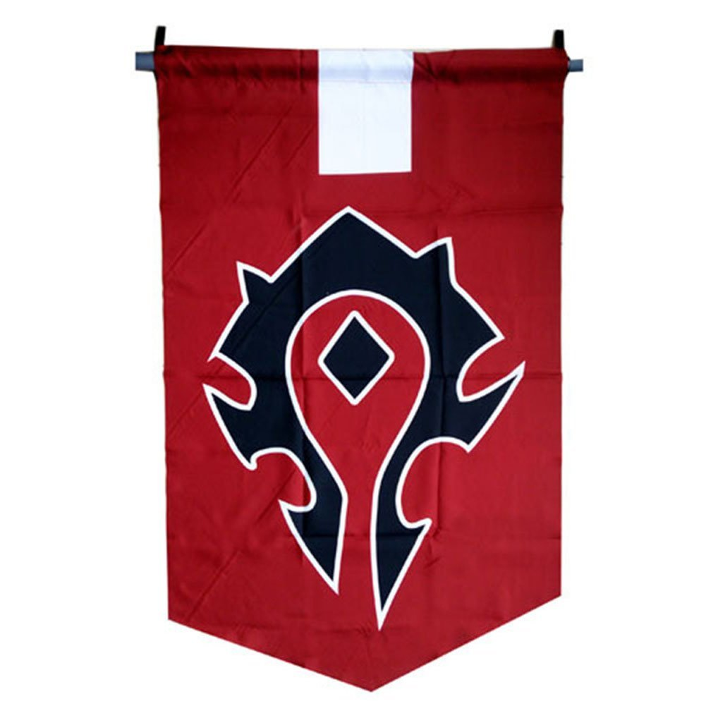 Horde Alliance Badge Banner Flag Orc Emblem Poster (Red)