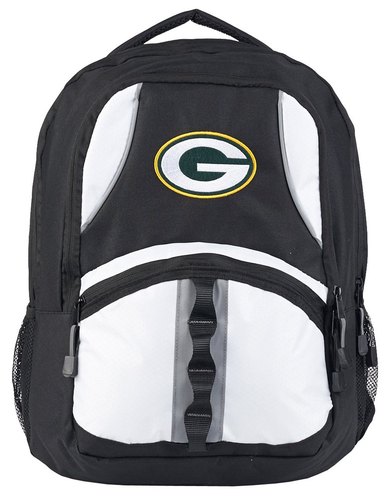 NFL Green Bay Packers Captain Backpack, 18.5-Inch, Black