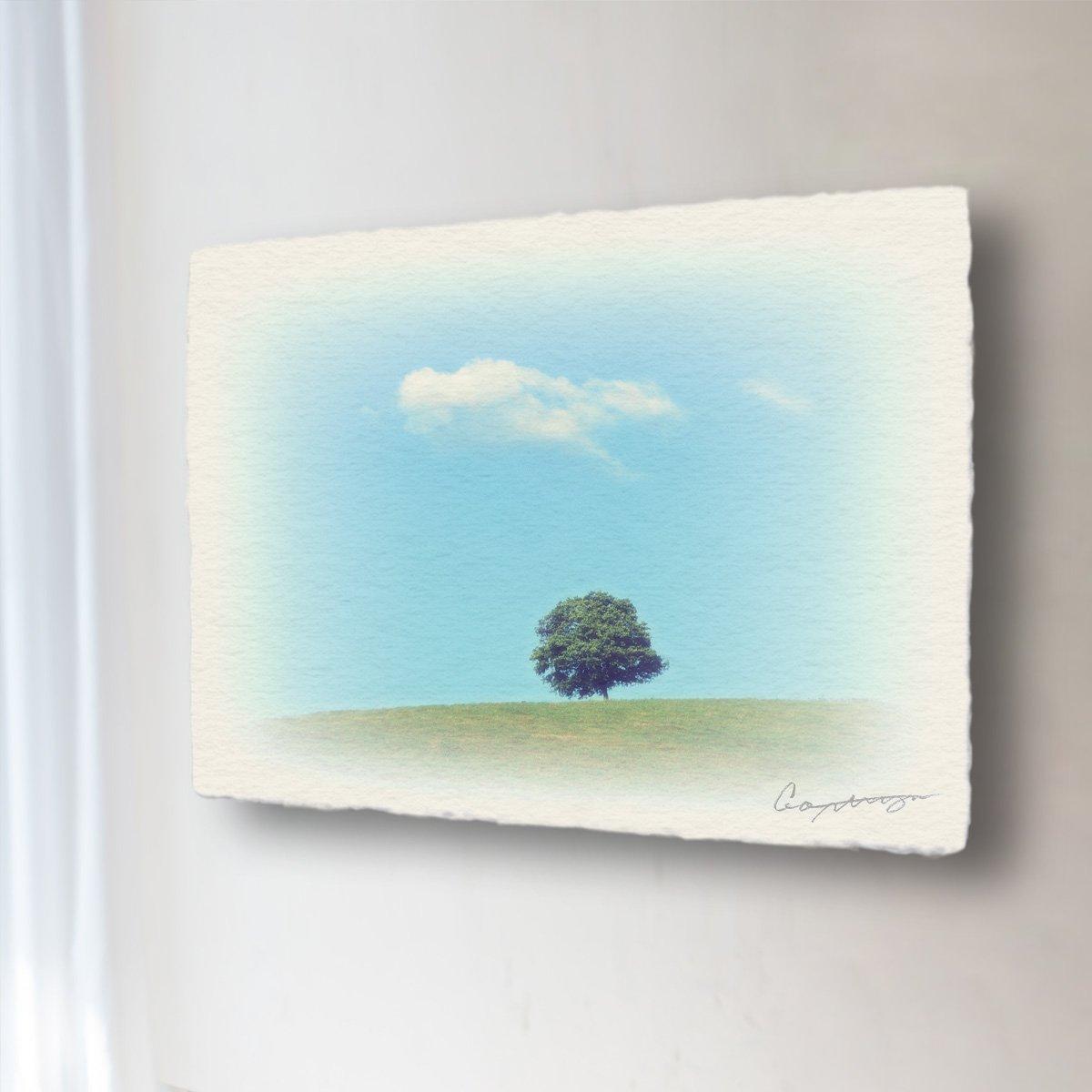 和紙 アートパネル 「丘の上の木とはぐれ雲」 (60x45cm) 絵 絵画 壁掛け 壁飾り インテリア アート B07DK2VW3Y 16.アートパネル(長辺68cm) 48000円|丘の上の木とはぐれ雲 丘の上の木とはぐれ雲 16.アートパネル(長辺68cm) 48000円