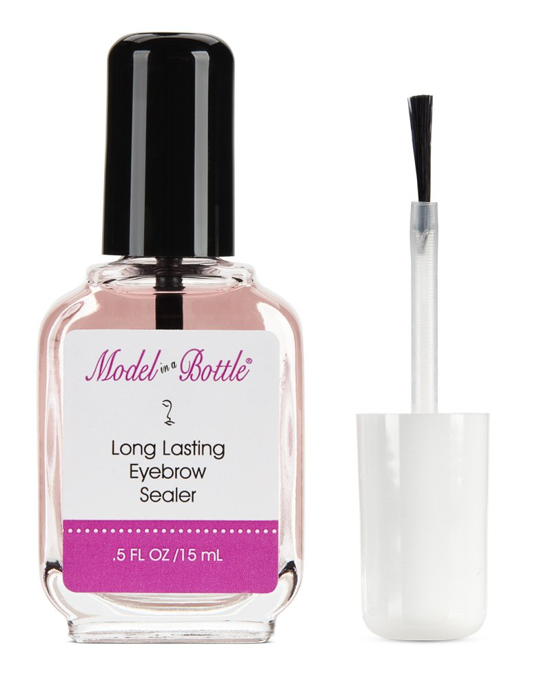 Model in a Bottle Eyebrow Sealer with Mascara and brush applicator for flawless eyebrows all day Regal Beauty Inc 1003