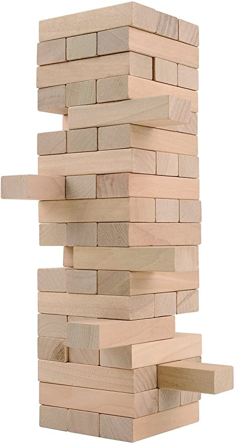 Amazon CoolToys Timber Tower Wood Block Stacking Game Fascinating Wooden Bricks Game