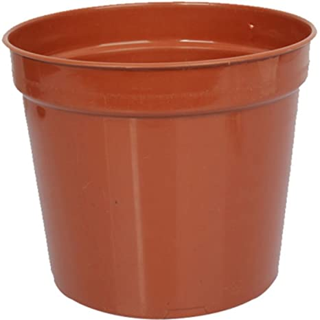 First Smart Deal 7 Inch Plastic Nursery Planter Pot Pack of 6 - Brown