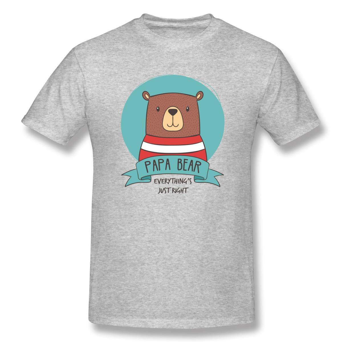 Navy S Papa Bear Classic Tshirt Gray With Short Sleeve