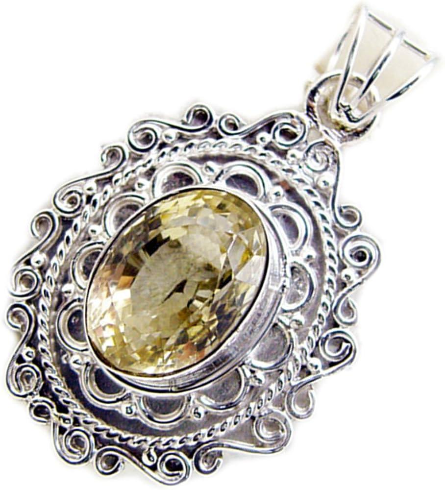 Sterling silver pendant set with gemstone  Silver and gemstone pendant ethnic jewelry amethyst garnet citrine birthday gift