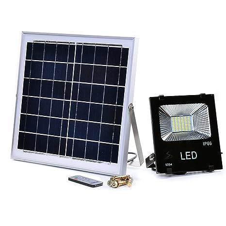 Luce Per Esterno Con Pannello Solare.Faretto A Led Con Pannello Solare 50w Da Esterno Luce Fredda