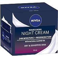 NIVEA Daily Essentials Rich Regenerating Face Night Cream with 24 Hour Moisture Boost (50ml), Moisturising Night Cream…